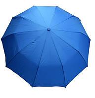 Однотонный зонт  в три сложения