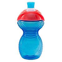 Бутылка-поильник Munchkin Click Lock с носиком, синяя с красным, 266 мл