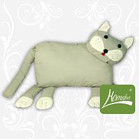 Игрушка-подушка, детская подушка, Кот цв. серый