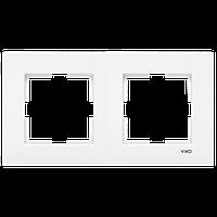 Двойная горизонтальная рамка VIKO Karre белый