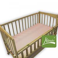 Комплект постельного белья ранфорс (простынь на резинке, цв. розовый)