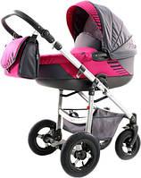 Детская коляска 2 в 1 Jumper Light Misa 03 600184 Tako, малиновый с графитом