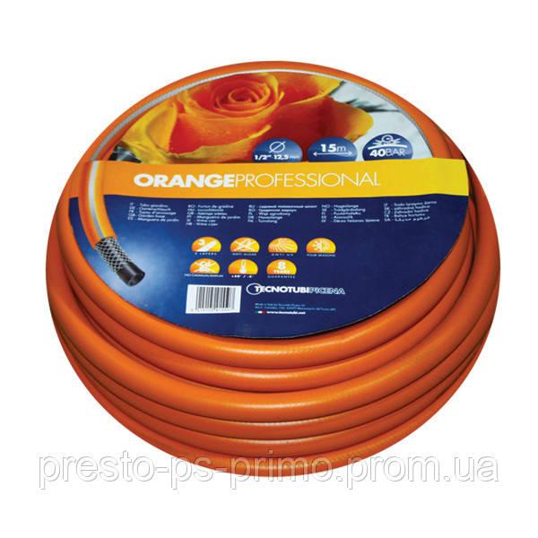 Шланг поливочный Orange Professional 1/2  25м Tecnotubi Италия
