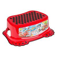 Детская подставка для ног Тачки СS-006 Tega Baby, красная