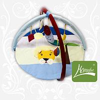 Коврик игровой, Лев, с дугами,  подвесными игрушками
