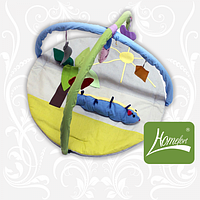 Коврик игровой, Гусеница, с дугами, подвесными игрушками