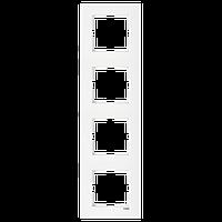 4-я рамка вертикальная VIKO Karre белый