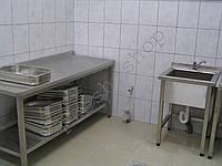Стол производственный с полкой AISI 201/430