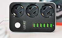 Сетевой фильтр 3 розетки 6USB LDNIO SE3631