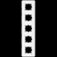 5-я рамка вертикальная VIKO Karre белый
