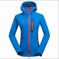 Треккинговая куртка женская Mammut SoftShell Coldproof blue XL, фото 1