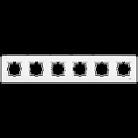 6-я рамка горизонтальная VIKO Karre белый