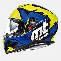 Мотошлем MT Thunder 3 Torn Yellow/Blue