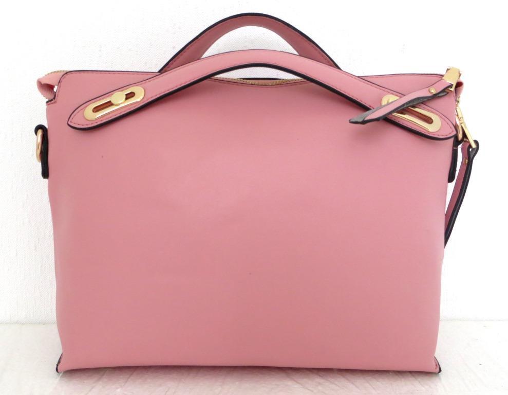 Стильная женская сумка. Эко-кожа. Розовая