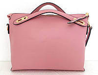 Стильная женская сумка. Эко-кожа. Розовая, фото 1