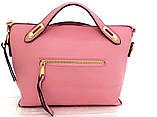 Стильная женская сумка. Эко-кожа. Розовая, фото 2