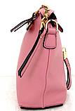 Стильная женская сумка. Эко-кожа. Розовая, фото 3