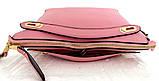 Стильная женская сумка. Эко-кожа. Розовая, фото 4