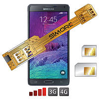Samsung Galaxy Note переходник на 2 SIM карты S4 S5 S6 Note Android