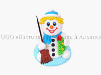 Сахарная фигурка - Снеговик - h85 мм, фото 1