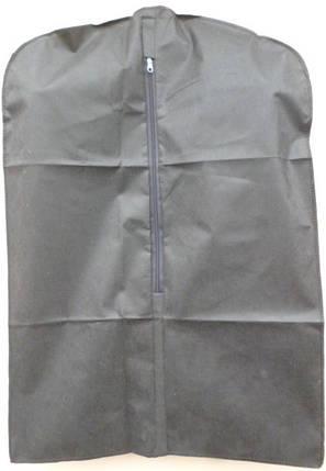 Чехол для хранения и упаковки одежды на молнии детский флизелиновый  черного цвета. Размер 50 см*70 см., фото 2