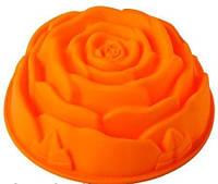 Силиконовая форма для выпечки Роза d 23 h 9 см. , фото 1