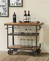 Передвижной сервировочный столик для вина (арт. MD-KBL-402)