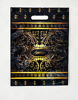 """Пакет прорезь 30*40 см с рисунком """"Luxury"""".Ламинированный прочный красивый пакет.В Полтаве.Оптом."""