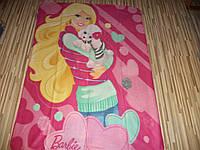 Флисовый плед Барби 120х150 см