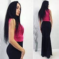 Женское платье в пол Драпировка фасон рыбка