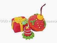 Сахарные фигурки - Новогодний набор №4 - h30 мм