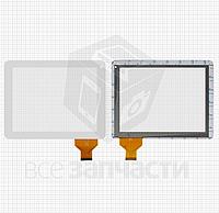 Сенсор,тачскрин  Cube U9GT4; IconBIT NetTAB Space 3; DNS AirTab M975W; Q-Pad RC9724C, белый, емкостный, 54 pin
