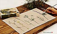 Салфетка из 100 льна, ручная роспись, 35*45 см