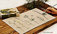 Серветка з 100 льону, ручний розпис, 35*45 см, фото 1