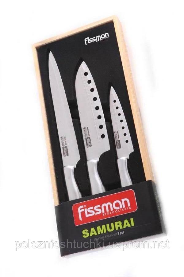Набор кухонных ножей сантоку 3 пр. SAMURAI (нерж. Сталь)