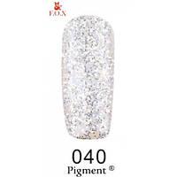 Гель-лак F.O.X. №040 прозрачный с серебряным плотным блеском 6 ml