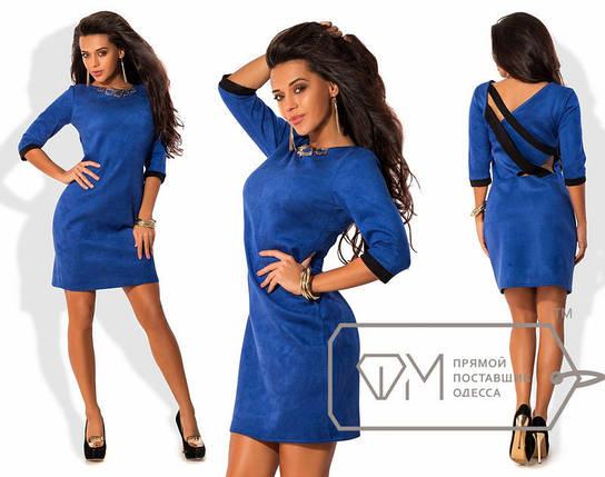 Нарядное замшевое платье, фото 2