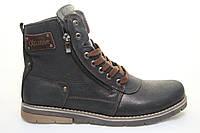 Мужские зимние кожаные ботинки Belvas