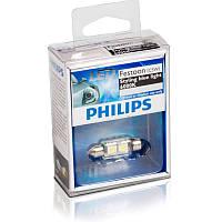 C5W Лампочка освещения салона авто Philips C5W LED 12V 1W 6000K 43MM SV8,5 T10,5X43 / FESTOON BLUEVI