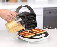 Сосисечница для приготовления кор догов Domotec KB-888, аппарат для хот догов, вафельница, фото 1