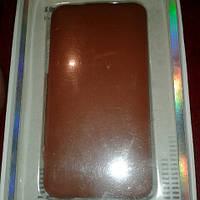 Чехол книжка для IPHONE 4/4S флип коричневый