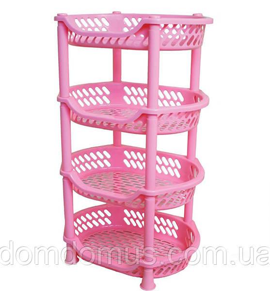 Етажерка для овочів Efe Plastics, рожева