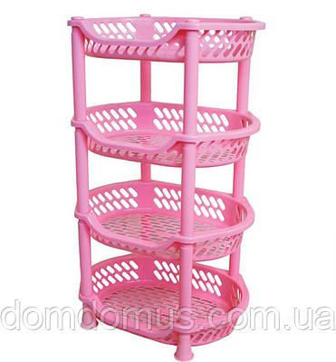 Этажерка для овощей Efe Plastics, розовая