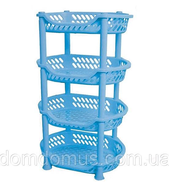 Этажерка для овощей Efe Plastics, голубая