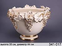 """Кашпо """"Гроздья винограда"""" кремовый ed341-017"""