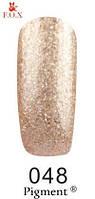 Гель-лак F.O.X. №048 плотный золотой микроблеск 6 ml