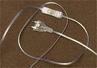 Прозрачный провод с вилкой и выключателем, фото 1