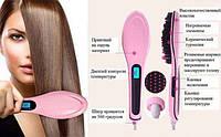 Расческа-выпрямитель Fast Hair Straightener, уход за волосами, брашинг для волос  , фото 1