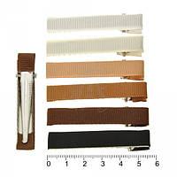 Уточка-заготовка для волос с репсовой лентой 5,7 см