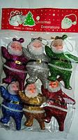 Новогодние фигурки Дед Мороз 6 шт 9 см